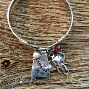 Jewelry - Alabama Roll Tide elephant bangle bracelet Crimson